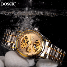 Bosck Brand Luxury Mechanical Men Watches Skeleton Automatic