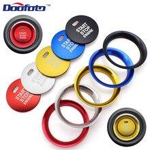 Doofoto автомобильные аксессуары наклейки Алюминий сплав кнопка запуска двигателя автомобиля чехлы для Mazda 3 6 Mazda 2 CX-5 CX-9 CX-3 MX-5 стайлинга автомобилей