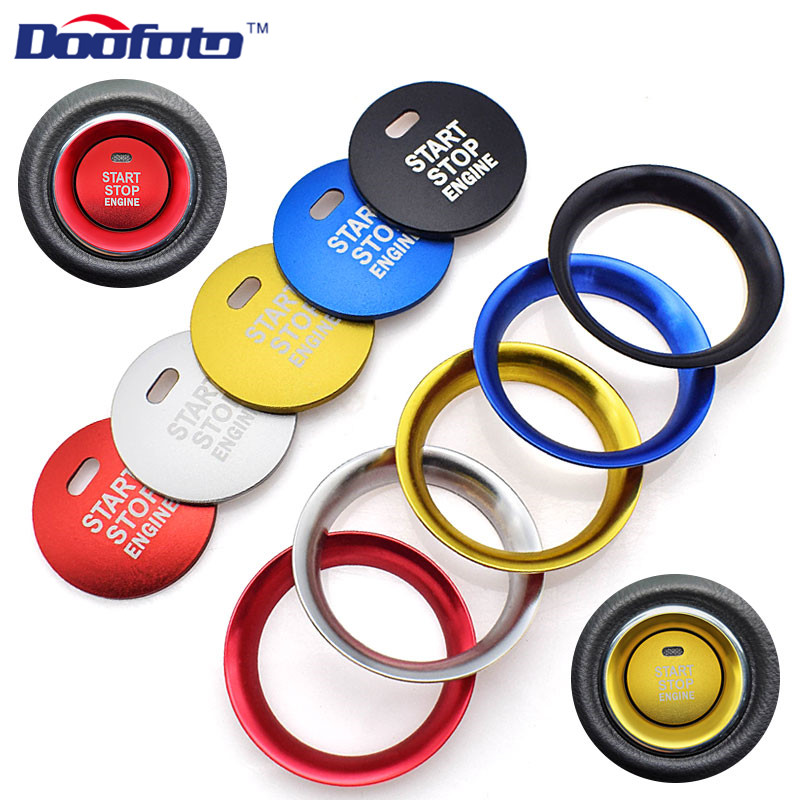 Doofoto Car <font><b>Accessories</b></font> Stickers Aluminum Alloy Engine Start Button Covers For <font><b>Mazda</b></font> 3 6 <font><b>Mazda</b></font> 2 <font><b>CX</b></font>-5 <font><b>CX</b></font>-<font><b>9</b></font> <font><b>CX</b></font>-3 MX-5 Car Styling image