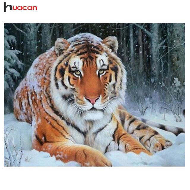 3D diamond Вышивка живопись Животные рукоделие Книги по искусству ремесел DIY зима тигр значок Алмазная мозаика живопись украшение дома