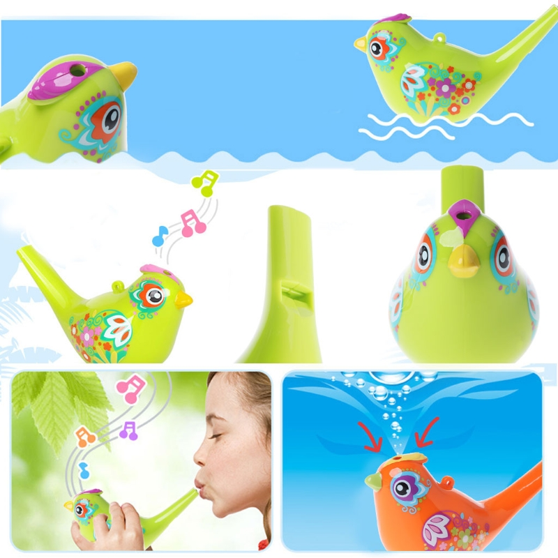 Top Quality Funny Simulation Bird Calls Add Water Bath Toy Whistle Children Baby Swim Toy JUN5-A