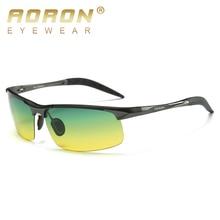Фотография 2018 AORON Aluminum Alloy Day Night Vision Sunglasses Polarized Glasses Women Brand Original Goggles Male Design Lucury Driving