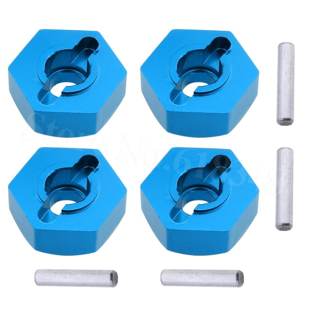 Redcat 02134B Aluminum Wheel Hex w//pins 12mm Blue 4 pcs FREE SHIPPING!!