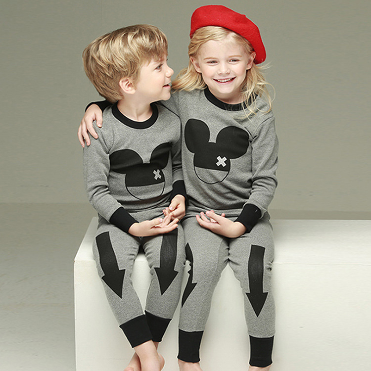 2018 Fashion Children Clothing Set Girls Cartoon Mickey Spring Baby Kids Clothes Sets Boys Long Sleeve Tshirt Pants Suits