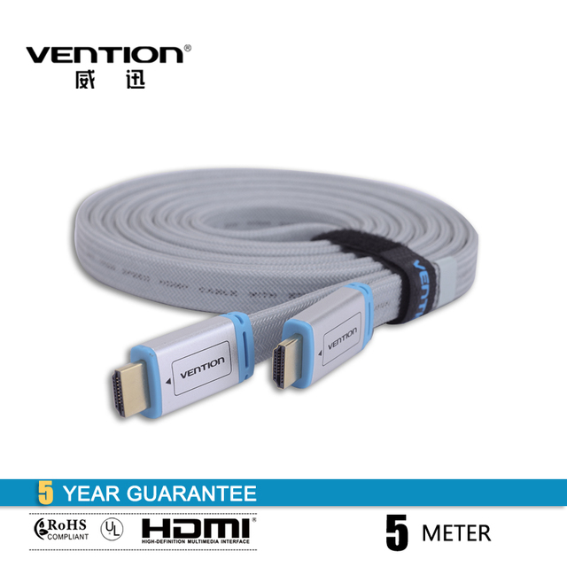 High Speed HDMI Cable 1.4V Vention 1M 1.5M 2M 3M 5M 8M 10M  1080P HD Ethernet 3D Computer Cable for Android TV