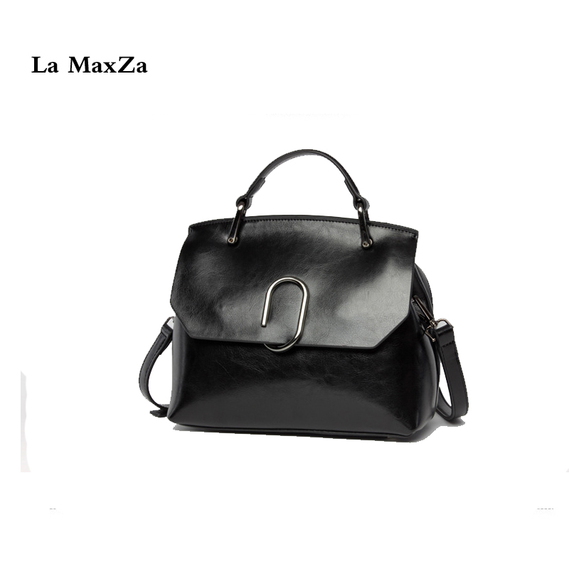 La MaxZa Split Leather Handbag Womens Retro Middle Size Tote Shoulder Bag Top Cow Leather Fashion Handbags 100% Cowhide Leather бра brizzi 1625 ma 01625w 002 chrome