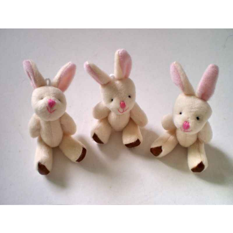 Cute Cartoon Soft Plush Rabbit Doll Backpack Pendant Baby Stroller Hanging Crib Tent Decor Ornaments Kids Toys Gift