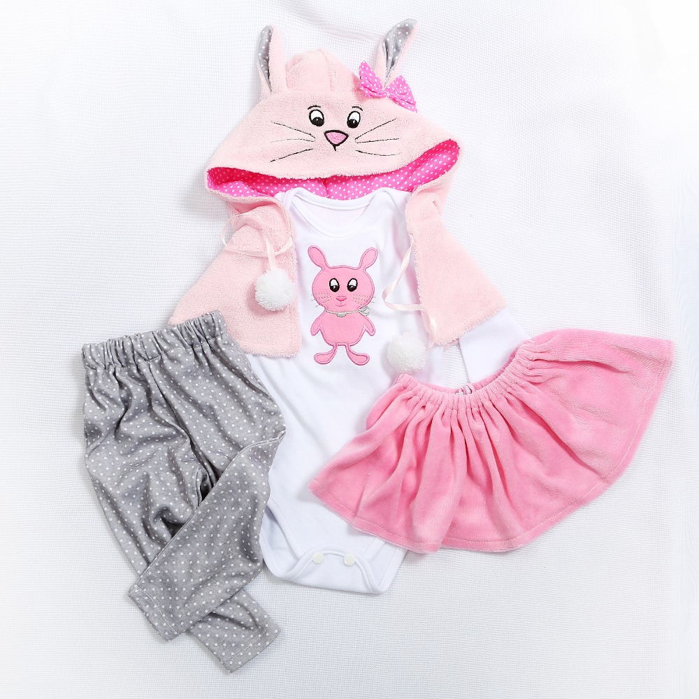 5 Different Styles Two Sizes 47 Or 60CM Doll  Dress Reborn Baby Doll Clothes High Quality Dress All Cotton Clothes