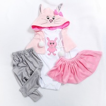 5 different styles two sizes 47 or 60CM doll  dress reborn b