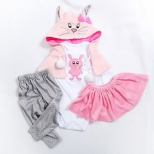 5 different styles two sizes 47 or 60CM doll dress reborn baby doll clo