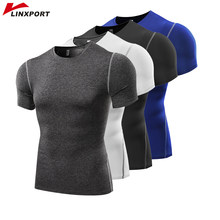 Men Short Sleeve Fitness Basketball Running Sports T shirt Thermal Muscle Bodybuilding Gym Compression Tights Jersey Jacket Tops(China)