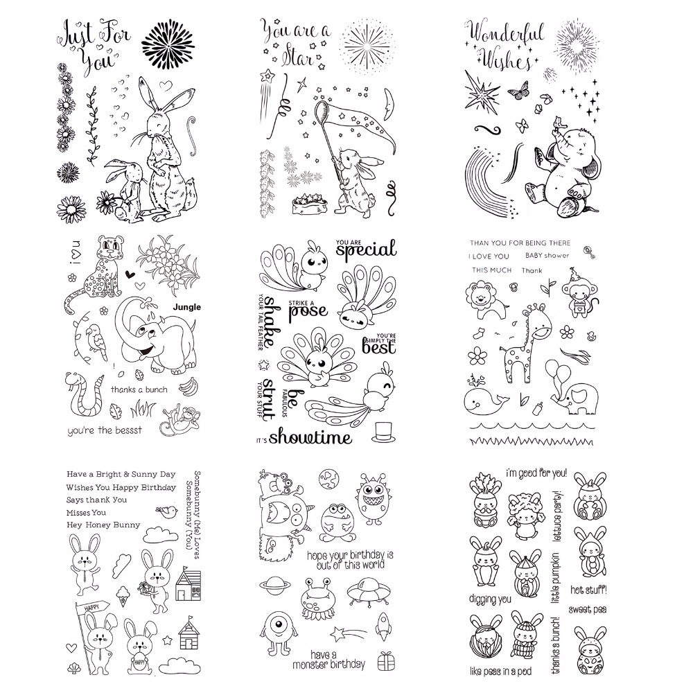 Cute cartoon Clear Stamp Seal for Scrapbooking Photo Album Diary Card Making DIY Decoration Supply