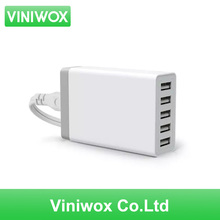 Viniwox 5 Ports Wall USB Charger Adapter for US EU Australia Plug 5V For iPhone Samsung Sony LG Smartphone Charge Power Socket