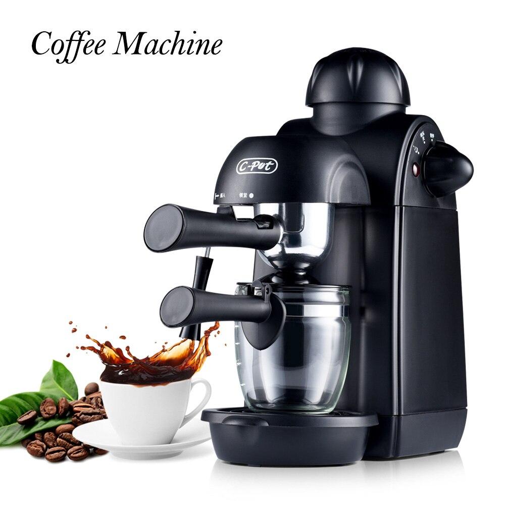 Coffee Machine Espresso Coffee Maker 4 Cups Semi Automatic Pump Pressure Espresso Cappuccino Machine Cafetera Kahve Makinesi