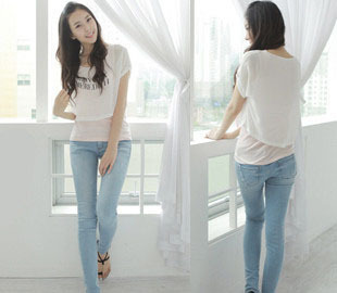 8c44cf0100a69 Free shipping 2013 new style fashion women s jeans slim light blue tight  skinny pants female whisker scratches jeans