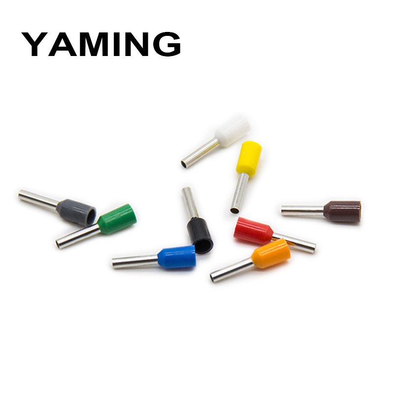 0 5mm2 E0506 Cable Wire Tube insulating terminals 22AWG Connector Insulating Crimp Insulated Terminal 1000PCS Pack in Terminals from Home Improvement