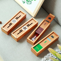 MEIKENG Students Stationery 1PC Multifunction Wood Pencil Box Pencil Case School Student Learning Supplies Student Gift
