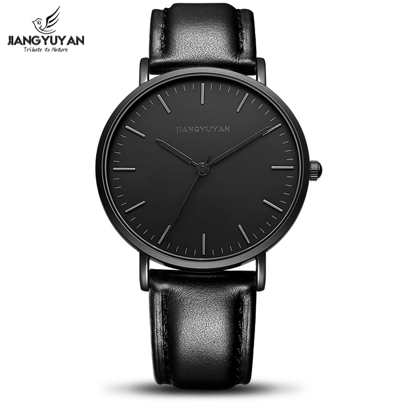 Ultra Thin Watch Men Minimalist Fashion Casual Mens Watches Top Brand Luxury Genuine Leather Strap Quartz Watch Business Man top brand luxury couple watches for lovers pair men and women leather strap quartz watch woman s man s ultra thin watch