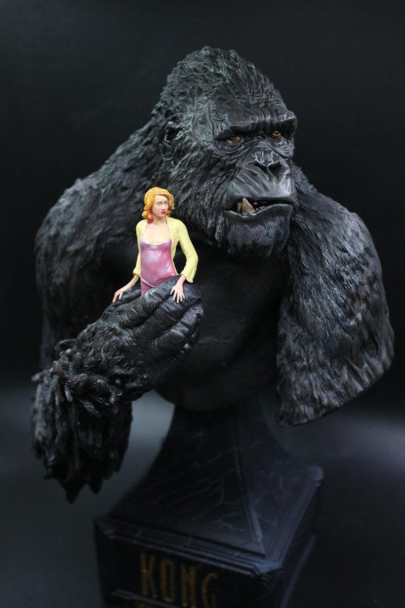 30 CM roi Kong Naomi Watts Statue buste Figurine poupées jouets résine Action Figure à collectionner modèle jouet enfants cadeau