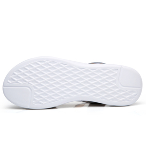 Image 3 - STQ 2020 Giày Sandal Nữ Mùa Hè Da Thật Chính Hãng Da Đế Bằng Dây Đeo Mắt Cá Chân Đế Bằng Nữ Trắng Peep Toe Flipflops 1803