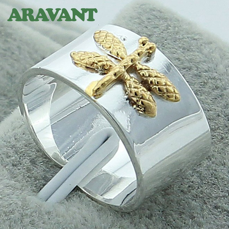 Silver Color Dragonfly Rings For Women Wedding Fashion Jewelry