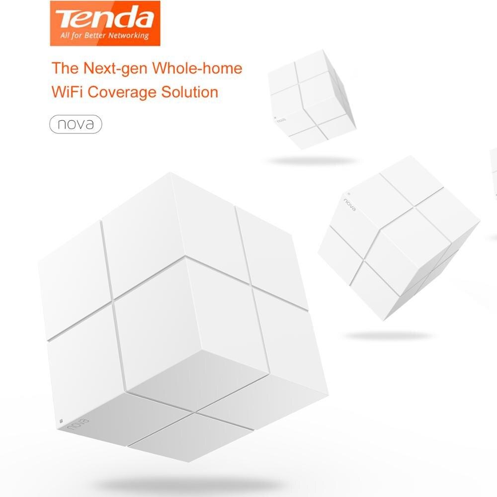 Système WiFi sans fil Tenda Nova MW6 pour toute la maison 11AC 2.4G/5GHz répéteur de gamme de routeur sans fil APP gérer jusqu'à 6,000 pieds carrés