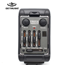 3 Band Guitar Pickup Fishman PREFIX PREMIUM S-O-B EQ with Mic Black Equalizer Instrument Accessories