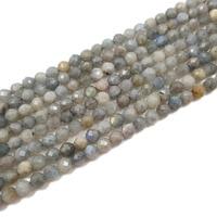 ااا جي الحجر الطبيعي اللابرادوريت جولة الشكل الأوجه حبة حوالي 6 ملليمتر 39 سنتيمتر/ستراند اليدويه صنع المجوهرات قلادة أو سوار
