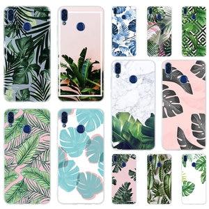 Мягкий силиконовый чехол тропические растения для Huawei Honor 30 20 10 9 Lite 30pro 20pro 30s 10i 9a 8a, чехлы для телефонов 9x 8x 7a Pro