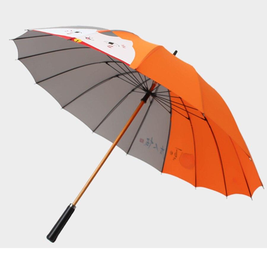 Creative poignée droite Art parapluie femme Parasol ombrage poche Parasol Jardin fait main Parasol pluie parapluies 80D0332