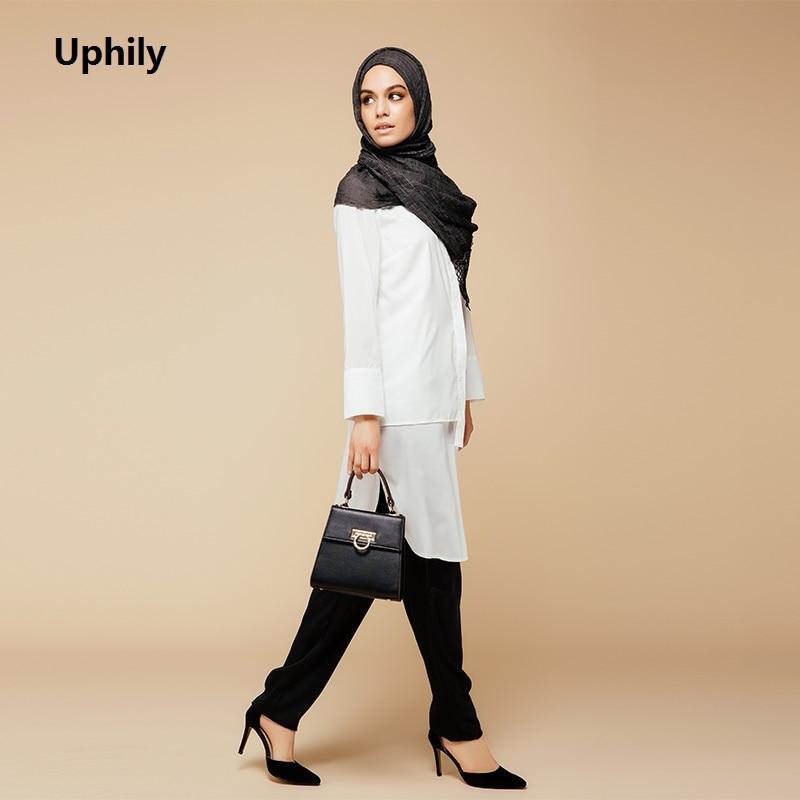 Women Maxi Long Sleeve Muslim Dress Clothing 2017 Round Neck Full Sleeve Muslim Clothing Cotton Kaftan Abaya Islamic Clothing
