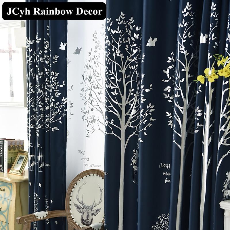 Lanene zavese za dnevno sobo moderno tiskane zavese iz organskih oken - Domači tekstil
