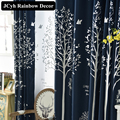 Flax blackout Curtains For Living Room Modern Printed Organza Window Curtains Tulle Blind And Voile Cortinas Cortinas Blackout