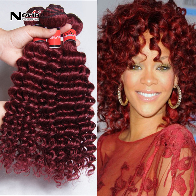 Peruvian Virgin Hair Burgundy Red Human Hair 3pcs Lot 8 32inch