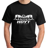 2017 New Men S Fashion Hoyt Archery Fighting Bucks Design Men S 100 Cotton Tee Shirt