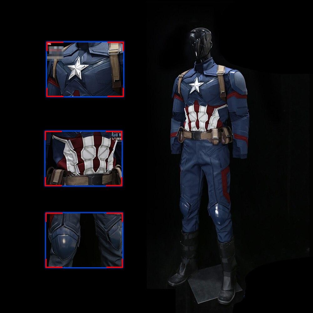 NOUVEAU 1:1 Captain America 3 Portable Hommes de Costume Écologique matériau Super-Héros Cosplay Costume pour Halloween Festival collection