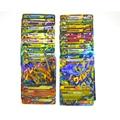 100 Unids/set Mega Todo Brillante No Repetir Mega Y EX tarjetas Tarjetas de Pokemon Inglés Pokemon Tarjeta de Juego Para Los Niños regalos