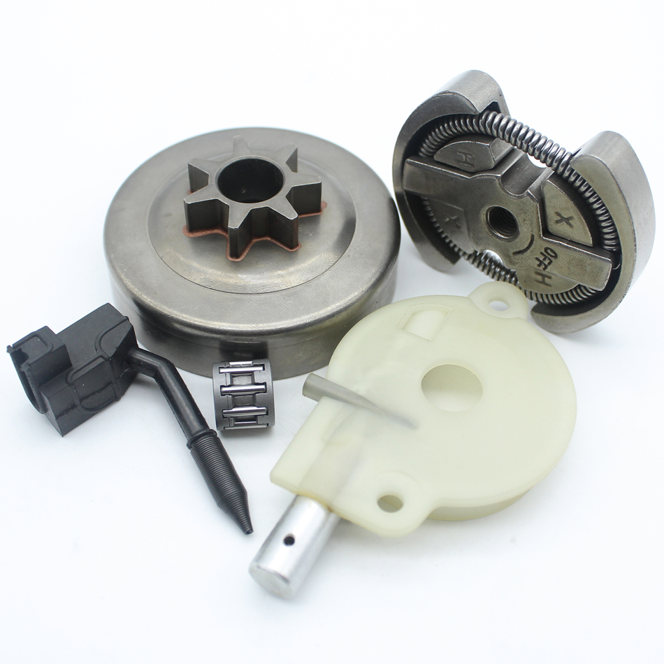цена на .325 7T Clutch Drum Oil Pump Oiler Cage Bearing Kit For HUSQVARNA 142 141 137 136 36 41 Chainsaw Parts