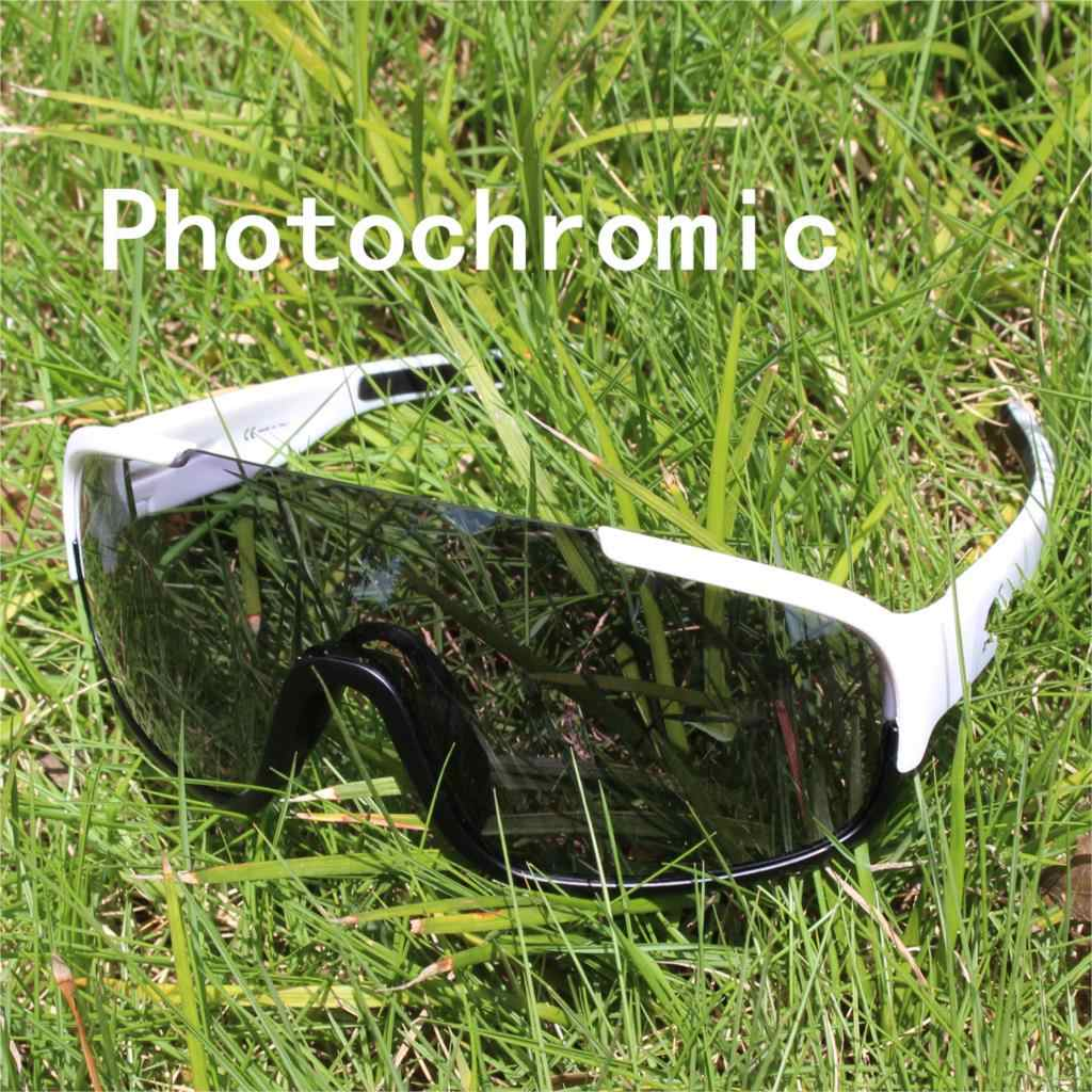 0f0841a9e9e Photochromic Auto Discoloration 4 Lens Cycling Sunglasses Polarized Men  Sport Road Mtb Mountain Bike Glasses Eyewear