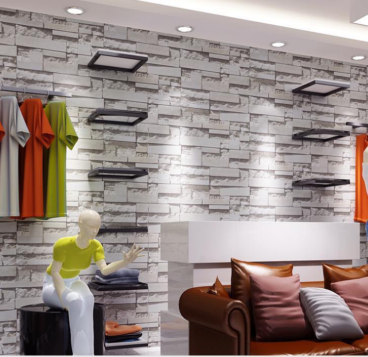 Comedor de estilo chino del papel pintado 3d piedra dise o for Papel para pared imitacion piedra