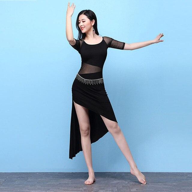 מבוגר סקסי מודאלי Mesh מזרח מזרחי בטן ריקוד תלבושות שמלת עבור נשים ריקודי בטן בגדי ריקודי בטן רקדנית בגדים ללבוש
