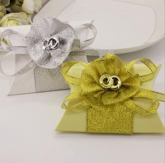 108pcs/lot Pillow candy box chocolate boxes wedding souvenirs wedding favors and gifts baby shower favor