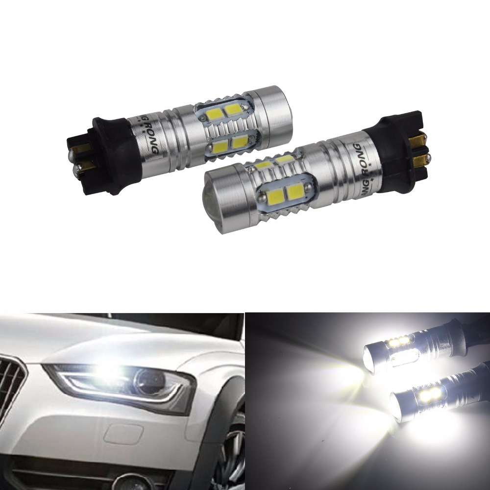 ANGRONG 2x <font><b>PWY24W</b></font> PW24W SAMSUNG LED Daytime Running Light DRL White For BMW 3-Series F30 GT F34 i3 (CA211x2) image
