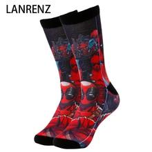 2019 villain hero Deadpool Corps Men and women fashion Funny socks 3d printed socks 200 knitting