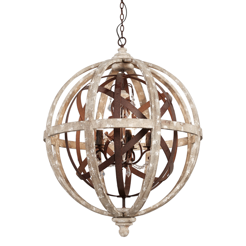 American country wood art chandelier wood makes old sitting room dining-room bedroom lamp individual character of old round ball 3 4 6 8 head american pastoral sitting room dining room study bedroom chandeliers cloth art act the role ofing