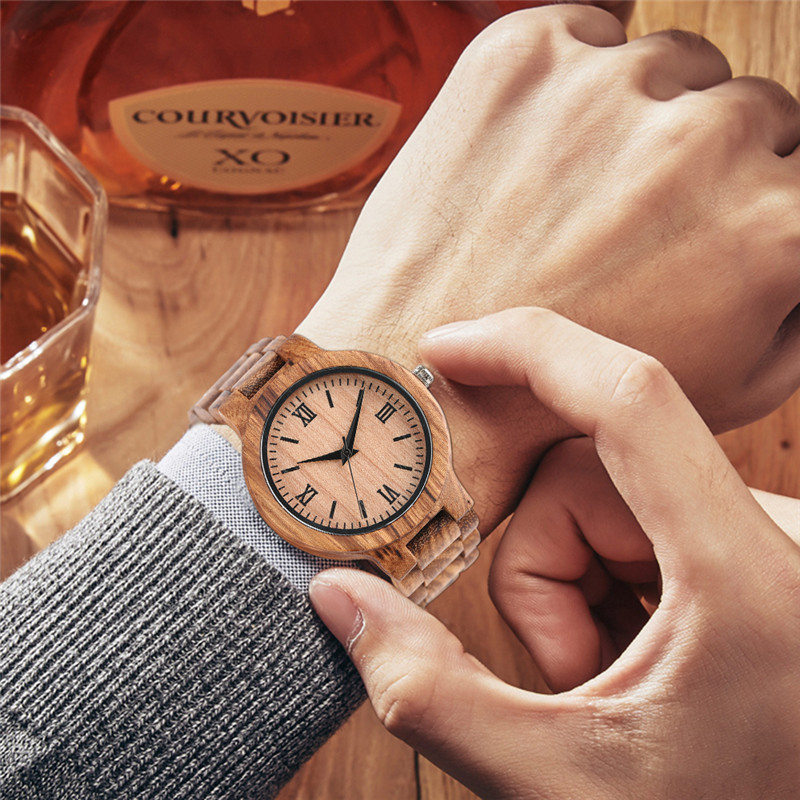YISUYA Minimalist Full Wooden Watches Women Men Bamboo Wood Bracelet Fashion Creative Quartz Wristwatch Handmade Gift