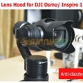 Lens hood sombrinha anti-dazzle tampa da lente lente para dji osmo/osmo +/inspire 1x3 lente