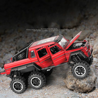 For Mercedes Benz G63 G65 Alloy Car Model For Babs 6x6 AMG Shock Absorber Off road Auto Toy Vehicles Diecast Scooter Model 1:32