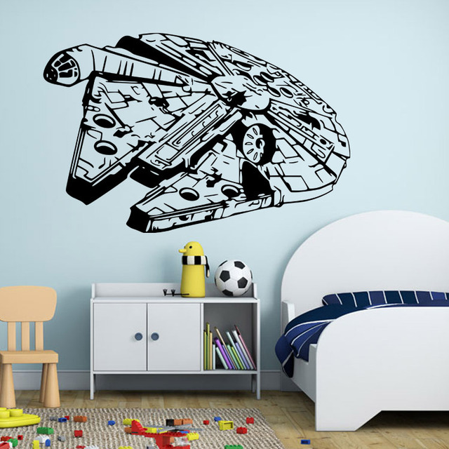 buy large star wars battleship adhesive wall sticker wall trooper star wars life size wall art big mural sticker decal ebay