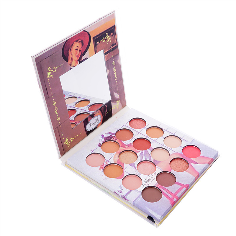 Global Fashion Eyeshadow 16 Color  Palette New Retro Style Multicolor Eye Shadow Makeup Dishes